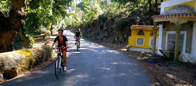 slef guided bike tour in sintra