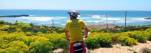 rota vicentina bicycle tour along the coast in Portugal