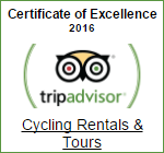 Cycling Rentals Certificate of Excellence