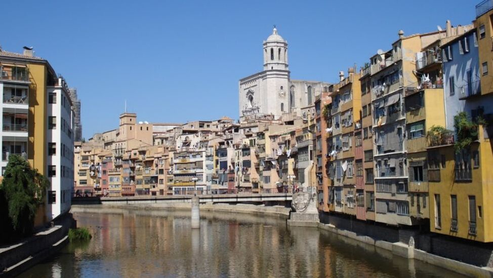 View of Girona from the River