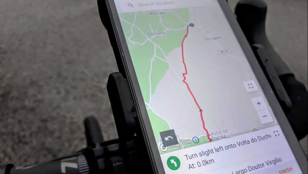 smartphone bicycle handlebar navigation smartguide